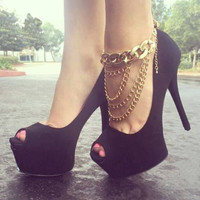 Shiny Ladies Sexy Fashion Chain Anklet = 5892956417