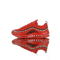 Nike Air Max 97 Red Leather Essential #AQ0655-121
