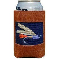 Fishing Fly Needlepoint Can Holder by Smathers & Branson