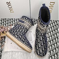 DIOR  Early spring classic letter fisherman shoes fur boots