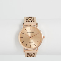 watch with laser cut band in pink | maurices