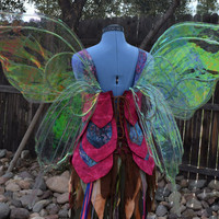 Large Iridescent Empress/Queen Butterfly Fairy Wings