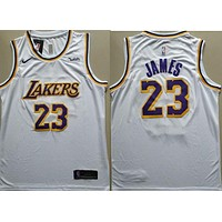 2018-19 #23 Lebron James Lakers Basketball Jersey