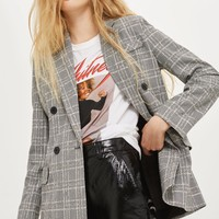 Textured Check Jacket | Topshop