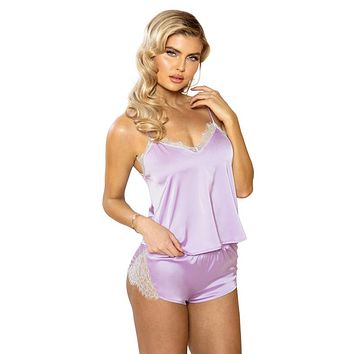 Sexy Memories Satin and Lace Loungewear Set