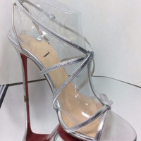 NEW CHRISTIAN LOUBOUTIN Youpiyou Strappy High Heel Sandals (Size 38) - $825.00!