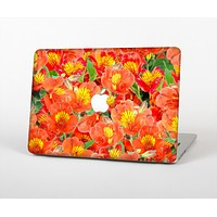 """The Red and Yellow Watercolor Flowers Skin for the Apple MacBook Air 13"""""""