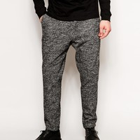 ASOS Skinny Fit Smart Trouser With Rib in Wool Mix at asos.com