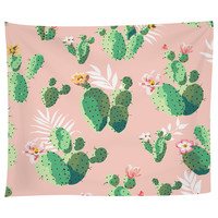Cacti on Pink Tapestry