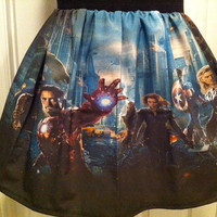 One of a kind Avengers inspired skirt - made to order