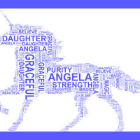 Unicorn - Magical Personalised A4 Word Art Print, Unusual gift, Birthday. Special Occasion, Child or Adult Gift, Wall Art, Home Decor.