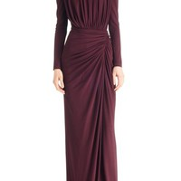 Givenchy Ruched Stretch Jersey Gown   Nordstrom