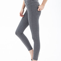 FOREVER 21 Heathered Knit Pants Heather Grey