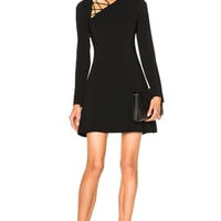 Cushnie et Ochs Winona Long Sleeve Fit & Flare Dress in Black | FWRD