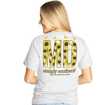 Simply Southern Preppy Maryland Sunflower T-Shirt