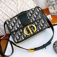 Dior Fashion Retro Women Shopping Canvas Embroidery Crossbody Satchel Shoulder Bag