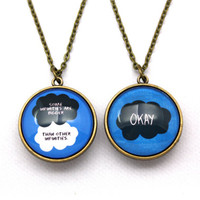 TFIOS Some Infinities & OKAY Double-Sided Necklace
