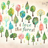 I Love The Forest  -  horizontal print