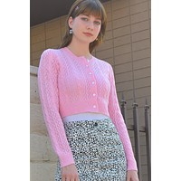 Miriam Pink Knitted Cardigan