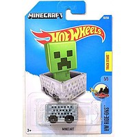 Hot Wheels Minecraft Minecart 70/250 HW Ride-Ons New for 2016