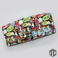 Cartoon Comic Over the Garden Wall Black Bulter Ricky And Morty Anime Womens Wallets And Purses Short Slim Leather Coins Bolsas