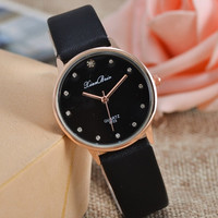 New Fashion Contracted Set Auger Female Table Gold Dribbling Classical Quartz Watches Gift   For Girlfriend = 1956445444