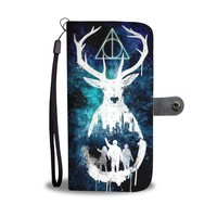 QIYIF Sign of the Deathly Hallows Harry Potter Wallet Phone Case