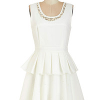 ModCloth Vintage Inspired Mid-length Sleeveless A-line Pearls Night Out Dress