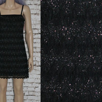 90s Bodycon Dress Cocktail Chevron Mesh Lace Knit Black Silver Grey Grunge Hipster Boho Gypsy Festival Hippie Cyber Goth Gothic Punk XS S