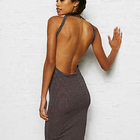 Don't Ask Why Ribbed Halter Midi Dress, Wine