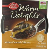 Betty Crocker Warm Delights, Molten Caramel Cake, 3.35-Ounce Bowls (Pack of 8)