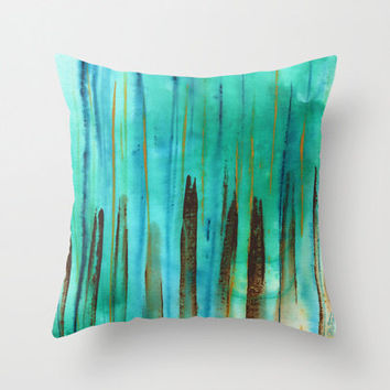 Beach Fence Indoor and Outdoor Throw Pillows