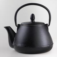 Black Ripple Cast Iron Teapot - World Market