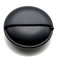 PuTwo Pill Box Pocket Size for Travel Day and Night Round Metal Aluminium