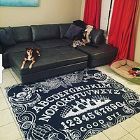 Ouija Board Black area rug