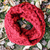 Ruby Open Knit Inifinity Scarf