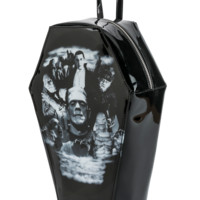 Monster Collage Coffin Back Pack