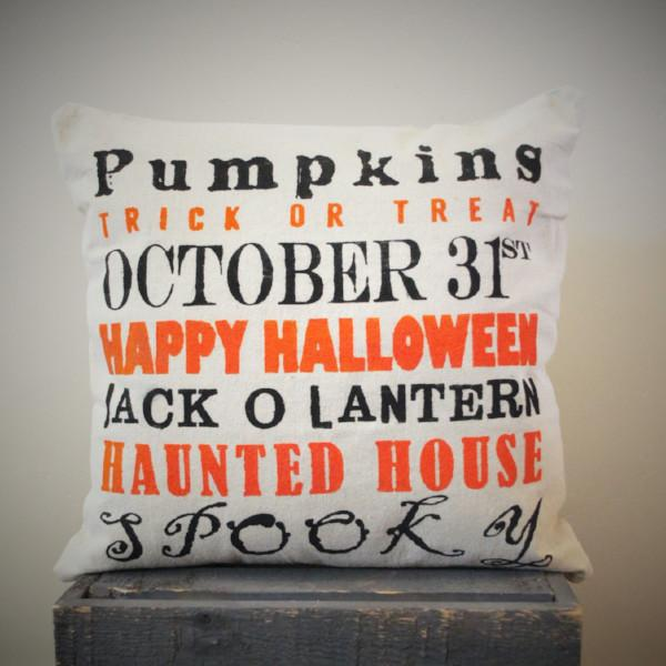 Image of Halloween Subway Art Pillow Cover