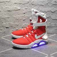 Nike air max Back to the Future Red Basketball shoes Size 40-45