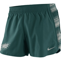 Philadelphia Eagles Nike Women's Warpspeed Pacer Performance Shorts - Green