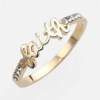 Ariella Collection 'Messages - Faith' Script Ring (Nordstrom Exclusive)   Nordstrom
