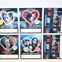 Licensed cool 6 Riverdale Valentines Day Cards Jughead Archie Betty Hot Topic Exclusive NEW