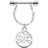 Handcrafted Tree of Life Nipple Ring Created with Swarovski Crystals | Body Candy Body Jewelry
