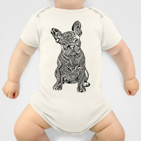 Polynesian  Frenchie Baby Clothes by Huebucket