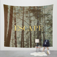 Escape x Forest Wall Tapestry by Leah Flores