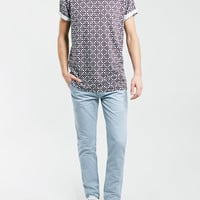 LIMA GEO ROLLER FIT T-SHIRT - New This Week - New In - TOPMAN USA