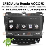 OSSURET 10.1 Inch 32GB Android 10 Car Audio GPS Navigation for Honda Accord 7 2003-2007 Head Unit A/C Control 1080P Video Bluetooth Mirror Link