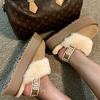 UGG new style plush Baotou cotton slippers fashion ladies winter cotton shoes men