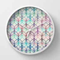 Mermaid's Braids - a colored pencil pattern Wall Clock by Micklyn