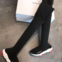 Balenciaga Fashion Knit Thigh Boot Sneaker